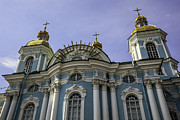 Russian Cross Photos - St. Nicholas Naval Cathedral - St. Petersburg - Russia by Madeline Ellis