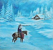 Snowy Night Pastels - St. Nicholas by Patricia Olson