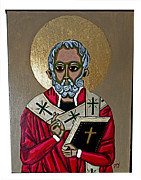 Religious Mixed Media Prints - St Nick Print by Paul Yeager