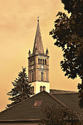 Germany Digital Art Originals - St. Nicolai Kirche / St. Nicholas Church by Gynt