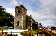 Deserted Castle Framed Prints - St Oswalds Church Castle Bolton Framed Print by Trevor Kersley