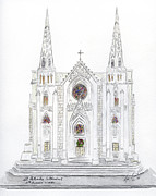 St. Patrick Paintings - St. Patricks Cathedral for the Holidays by Lynn Lieberman
