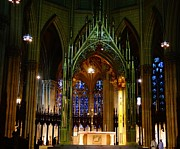 Rosary Framed Prints - St. Patricks Cathedral In New York City Framed Print by Dan Sproul