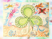 March Drawings Prints - St Pattys Day Lunch Print by Sherry Flaker