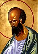 Russian Icon Painting Posters - St. Paul Poster by Joseph Malham
