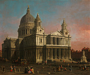 Delacroix Prints - St  Paul s Cathedral Print by MotionAge Art and Design - Ahmet Asar