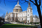 Bishop Hill Framed Prints - St Pauls Cathedral City of London Framed Print by Andy Evans