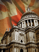 St Photo Posters - St Pauls Cathedral Poster by Mark Rogan