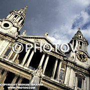 Pediment. Decoration Posters - St. Pauls Cathedral - Queen Annes statue - London - UK Poster by Hisham Ibrahim