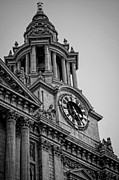 Great Architect Framed Prints - St Pauls Clock Tower Framed Print by Heather Applegate