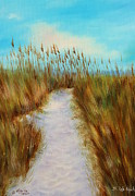 Sand Dunes Paintings - St Pete Beach Sand Dunes Path by Gabriela Valencia