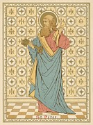 Saint Drawings Metal Prints - St Peter Metal Print by English School