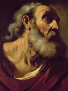 Francesco Painting Posters - St. Peter Poster by Guercino