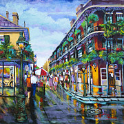 Royal Street Prints - St. Peters Balconies Print by Dianne Parks