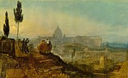 Vatican Paintings - St Peters from the south 1819 by Joseph Mallord William Turner