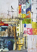Russia Mixed Media Prints - St Petersburg courtyard Print by Elena Nosyreva