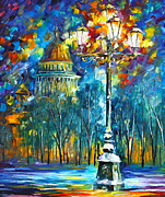 Russia Painting Originals - St. Petersburg New by Leonid Afremov