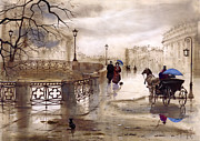 Russia Painting Metal Prints - St. Petersburg Metal Print by Svetlana and Sabir Gadghievs