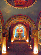 Art In America Posters - St Photios Greek Shrine Poster by Elizabeth Hoskinson