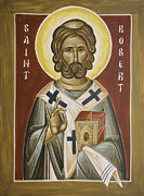 St Robert Print by Julia Bridget Hayes