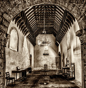 Chandelier Prints - St Seirio Church Print by Adrian Evans