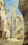 Figures Painting Framed Prints - St. Severin Paris Framed Print by James Holland