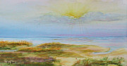 Water Scenes Painting Prints - St. Simons at Sunset Print by Dottie Kinn