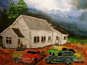 Dodge Stake Truck Paintings - St. Sophie Memories by Michael Litvack