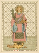 Religious Drawings Prints - St Stephen Print by English School
