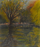 Pond In Park Prints - St. Stephens Green Print by Caroline Cunningham