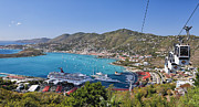 Charlotte Amalie Prints - St Thomas Panorama Print by George Oze