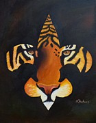 Sports Art Paintings - St. Tiger by Nina Stephens
