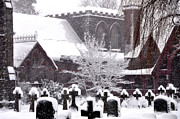 Phila Posters - St Timothys in the Snow Poster by Bill Cannon