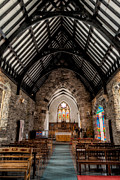 Indoor Digital Art Prints - St Tudcluds Church Print by Adrian Evans