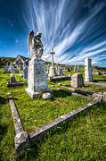 Church Digital Art Prints - St Tudno Graveyard Print by Adrian Evans
