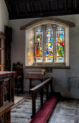 Chair Framed Prints - St Tysilio Window  Framed Print by Adrian Evans
