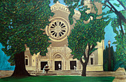 Catholic Art Painting Originals - St. Vincents Petaluma by Gerhardt Isringhaus