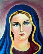 Fatima Paintings - St. Virgin Mary by Dr Hala Georgy