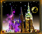 Prague Castle Digital Art Metal Prints - St. Vitus Cathedral Prague Metal Print by Daniel Janda
