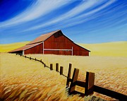 Stable Painting Originals - Stable near St. Johns by Leonard Heid