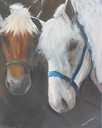 Notecards Painting Prints - Stablemates Print by Susan Richardson