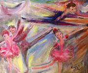 Ballet Dancers Painting Framed Prints - Staccato Framed Print by Judith Desrosiers