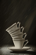 Leaning Posters - Stack Of Cups Poster by Christopher Elwell and Amanda Haselock