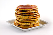 Syrup Framed Prints - Stack of pancakes with syrup Framed Print by Gert Lavsen