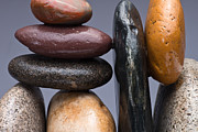 Pebble Art - Stacked Stones 2 by Steve Gadomski