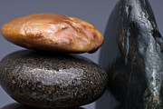 Pebble Art - Stacked Stones 3 by Steve Gadomski