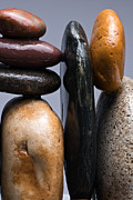 Pebble Framed Prints - Stacked Stones 4 Framed Print by Steve Gadomski