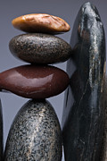 Pebble Framed Prints - Stacked Stones 5 Framed Print by Steve Gadomski