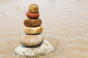 Cobblestones Posters - Stacking of Pebbles Poster by William Voon