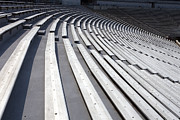 Stadiums Photographs Prints - Stadium Bleachers Print by Jason O Watson
